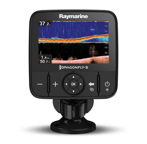 Raymarine Dragonfly 5DVS w/T/M Transducer Dual Channel CHIRP DownVision™ & Regular Sonar