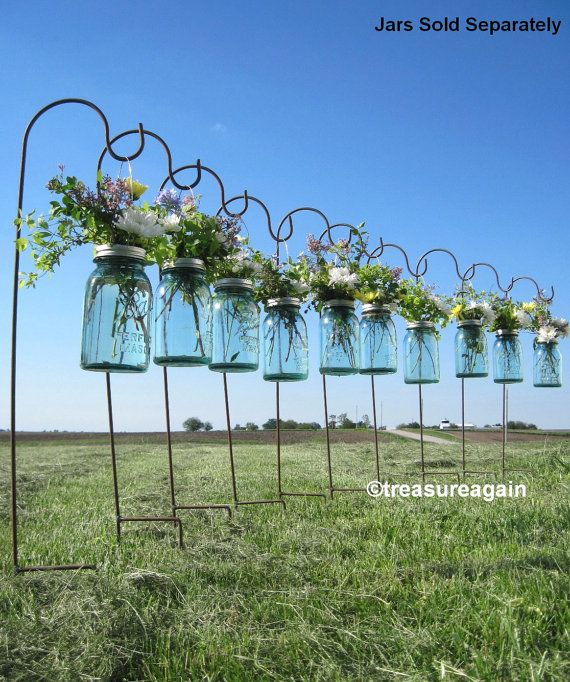 DIY Hanging Vases 12 Ball Mason Jar Hanging Flower Frog LIDS, for Candles, Flowers, Lanterns, Mason Jar Weddings on Etsy, $46.00