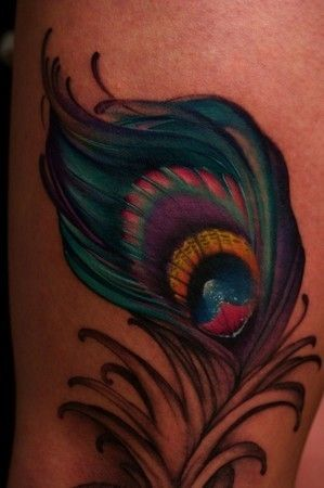 peacock feather tattoo