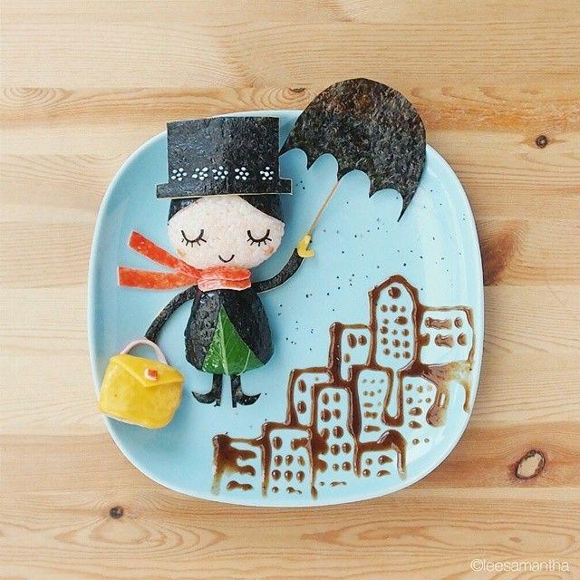 """Mary Poppins!  #leesamantha #foodart"""