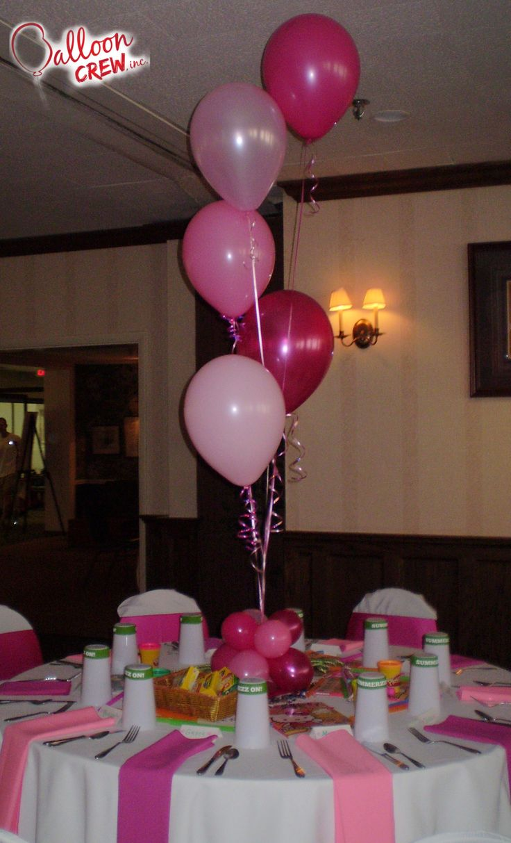 Pretty in pink ballooncenterpiece balloons