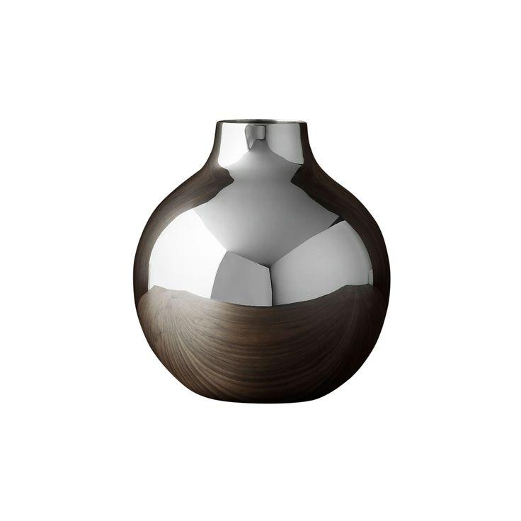 Boule Vas H13cm Ø14cm, Silver, Skultuna