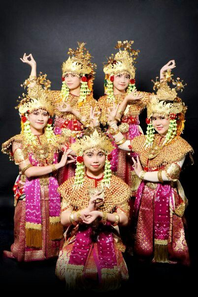 Indonesian traditional clothes from Palembang, South Sumatra.
