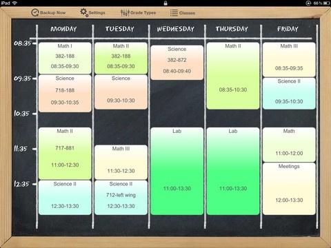 iDoceo - teacher's gradebook,diary and timetable Apple app.