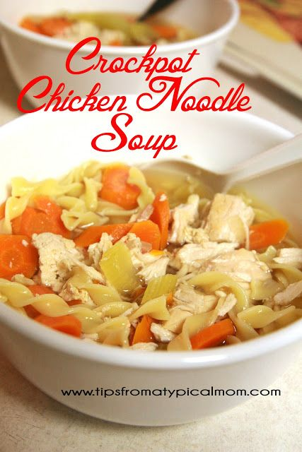 What is better than HOT Chicken Noodle Soup on a cold, rainy or snowy day?  When it's made in the crockpot and ready for you when you get home from work!This is the easiest recipe ever, and so yummy~! Enjoy~ Crockpot Chicken Noodle Soup:3 large chicken breasts (fresh or frozen)1 -49 oz can Swanson Chicken... Read More »