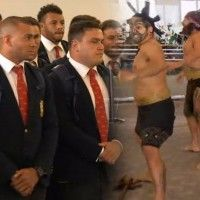 The British and Irish Lions touched down today at Auckland Airport.