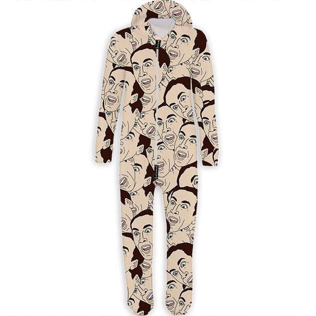 This Printed Onesie from Beloved Features Nicholas Cage Faces #popculture trendhunter.com