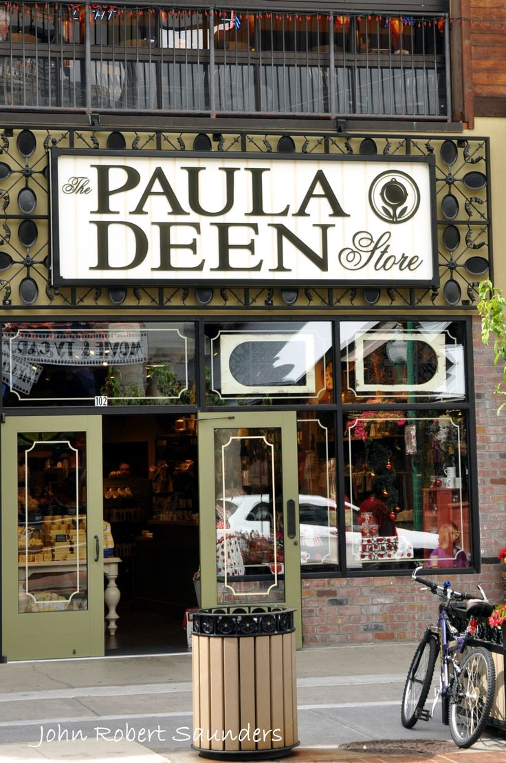 The Paula Deen Store is located in Gatlinburg, Tennessee!