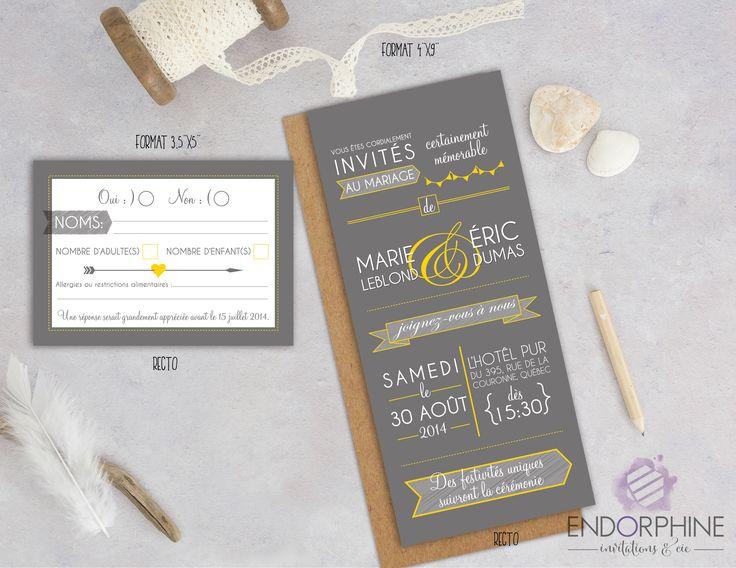 Invitation de mariage Endorphine, version imprimable