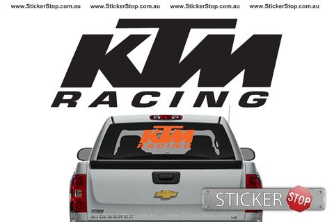 Ktm racing sticker decal available in various sizes and colours look great on