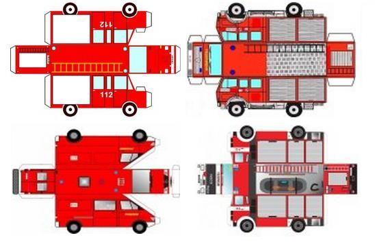 miniature fire engine printables