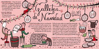 Cositas Ricas Ilustradas por Pati Aguilera: Galletas de Navidad