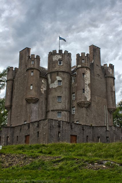Braemar Castle, Braemar, Aberdeenshire - From the late Middle Ages the castle was a stronghold of the Earls of Mar. The present Braemar Castle was constructed in 1628 by John Erskine.