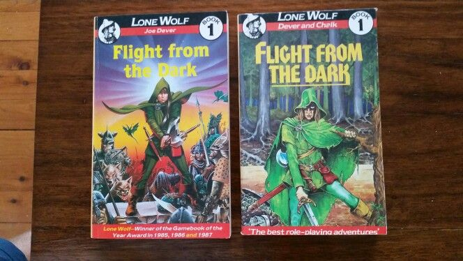 Two different versions of Joe Dever's Lone Wolf 1: Flight From the Dark