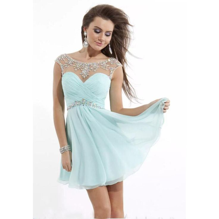 Hot Sage Green Short Homecoming Dresses 2017 Beading Crystal Short Capped Sleeves Pleats Sexy Bra Back Prom Gowns Party hh01