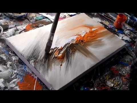 "Abstract Painting Demo / Abstract Art in Acrylic / ""R-7 by Roxer Vidal"" – YouTube"