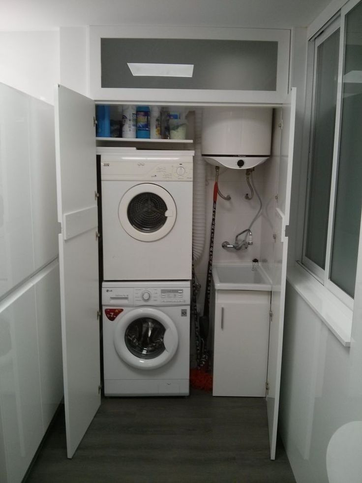 Pin de andrea kov csov en komora a ulozne priestory en 2019 lavadero oculto muebles lavadora - Armario para lavadora ...
