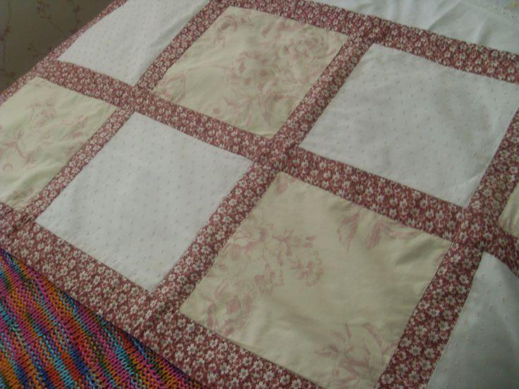 piecera en telas de algodon, para cama de 1 plaza