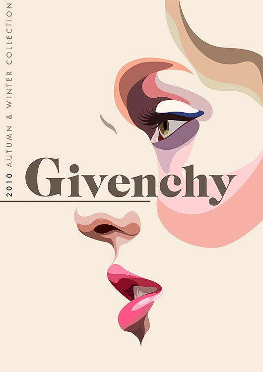 : Givenchy Illustration, Givenchy Poster, Graphic Design, Mattedwards, Inspiration, Color, Graphicdesign, Matt Edwards, Fashion Illustrations