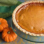 A creamy mild filling makes this pumpkin pie an annual crowd-pleaser.