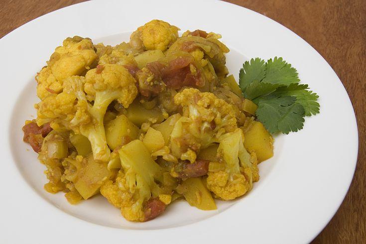 Ricette Indiane: Allo Gobi, terrina di patate e cavolfiore - Il Terrazzo Fiorito