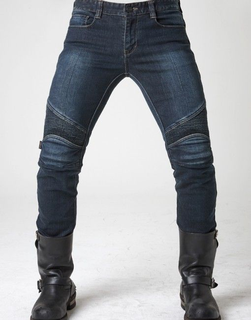 uglyBROS 2Slub-K - kevlar motorcycle jeans for men, dark blue denim, slim straight fit & with protectors. Order online.