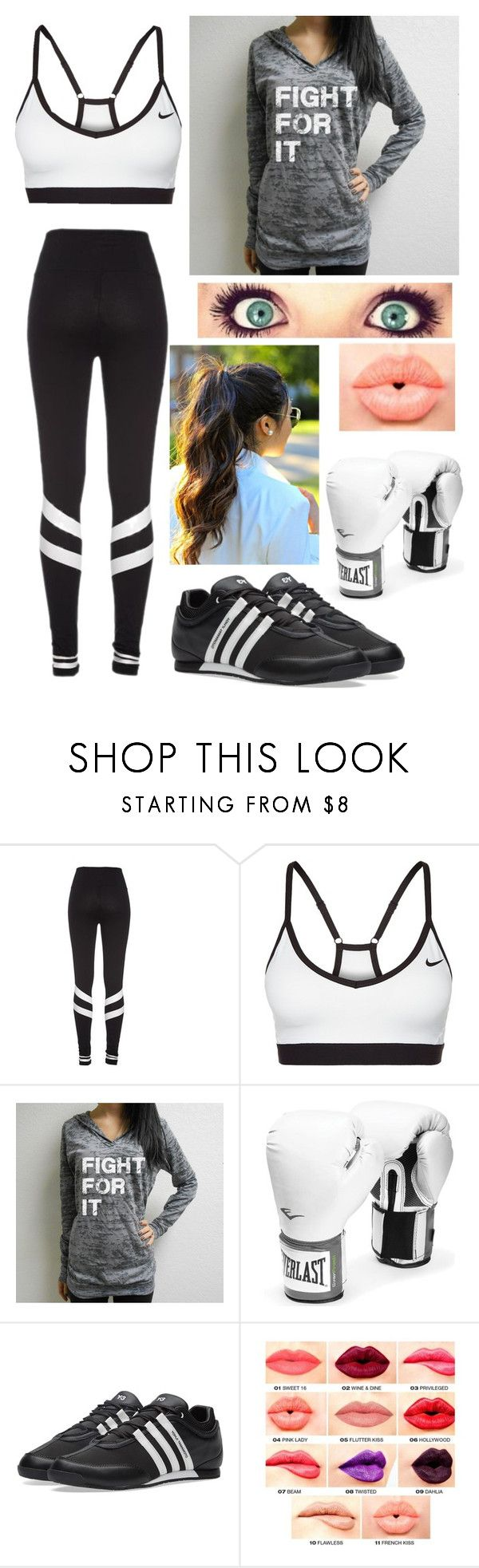 """Boxing"" by livylash ❤ liked on Polyvore featuring NIKE, Everlast, NYX and plus size clothing"