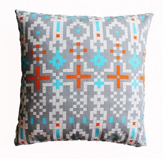 Aztec tribal pillow for living room, bedroom, nursery