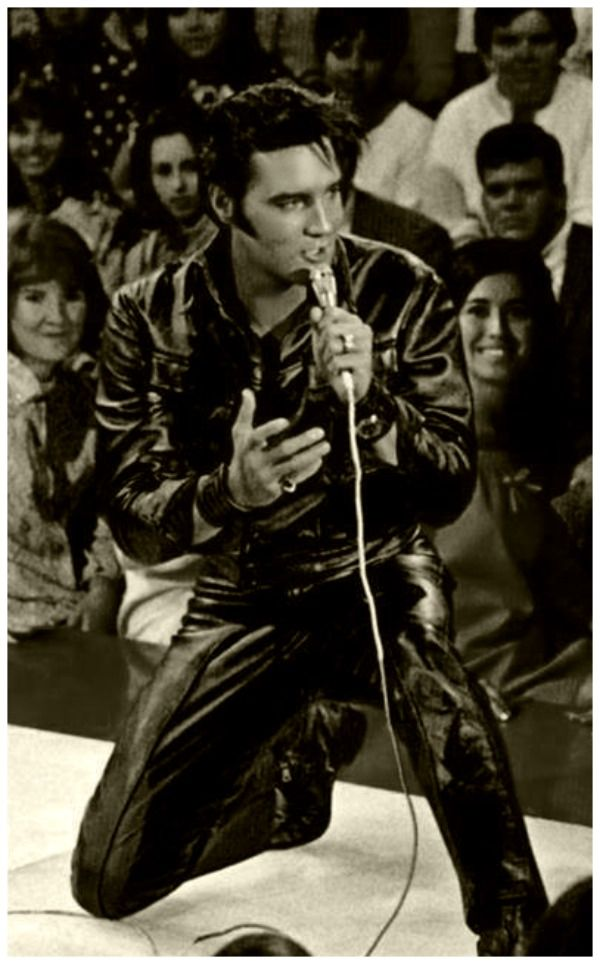Elvis on stage at the NBC Studios on June 29, 1968