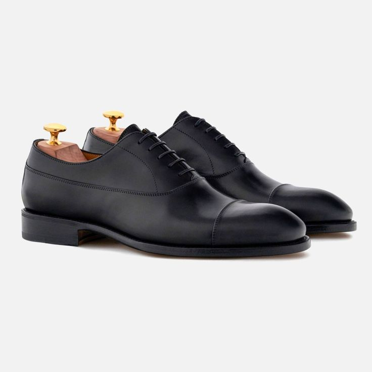 *SECONDS* Caine Oxfords - Italian Calfskin - Black