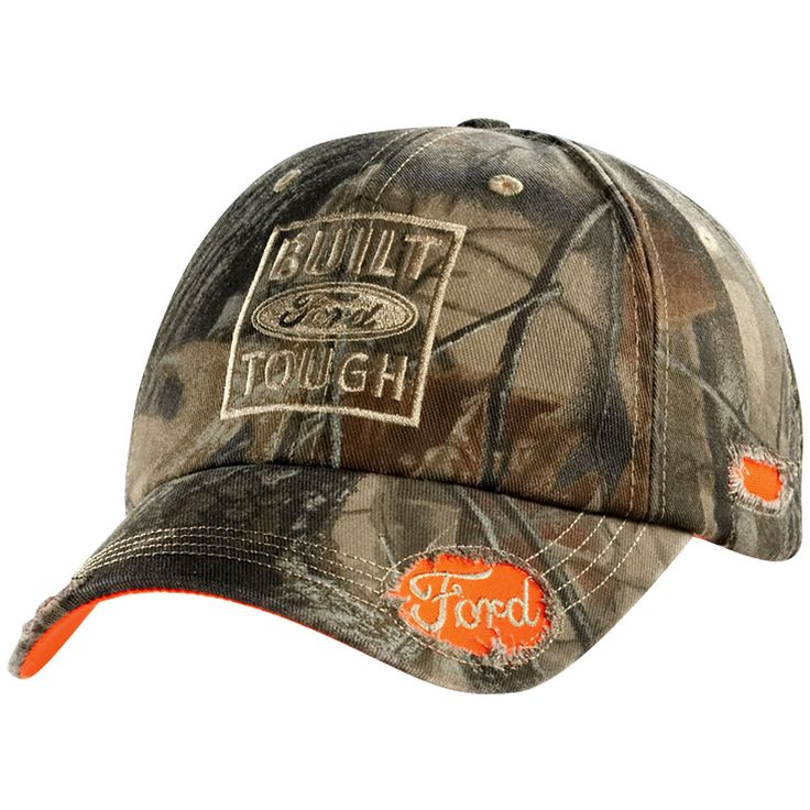 Ford Real Tree Camo Green Cap                     , Camo 100% cotton twill. Unstructured crown and precurved visor. Adjustable buckle closure fits most.