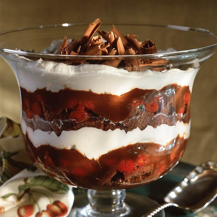 Black Forest Trifle | Recipe | Cherries, Chocolate cakes and Forests