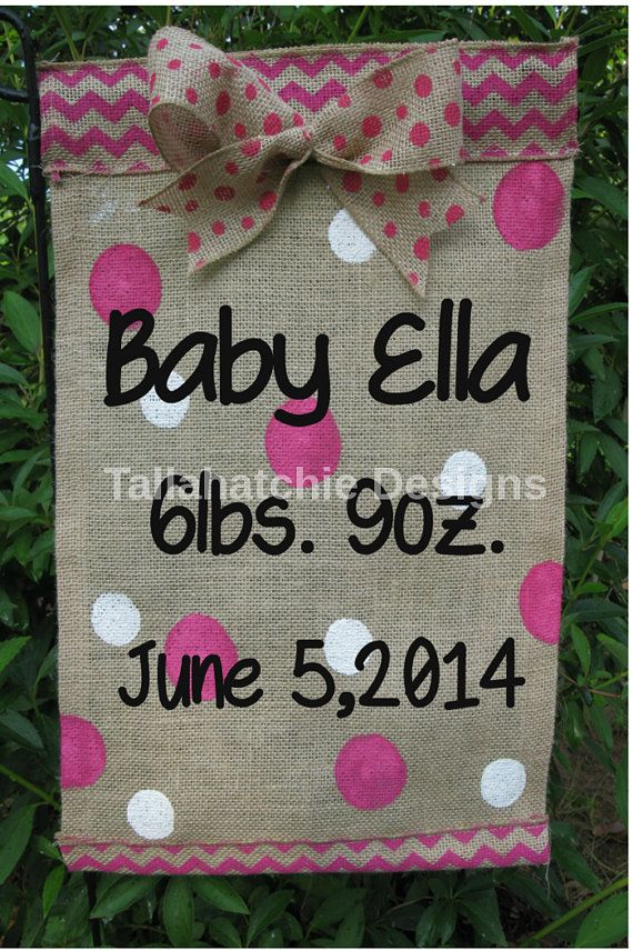 baby garden flag burlap garden flag new by