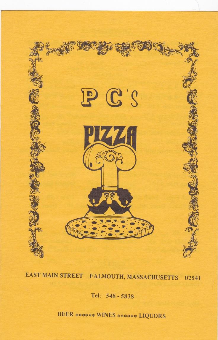 PC's Pizza menu. East Main street.