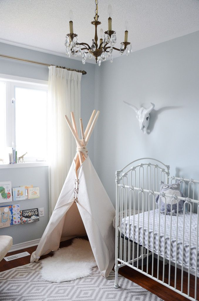Wild and Free Tribal Themed Nursery - love the teepee and overall neutrality of this sweet baby room!