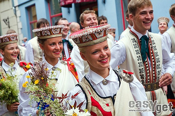 Latvia. Song and Dance Celebration.  Once in five years since 1873. Next in 2013.