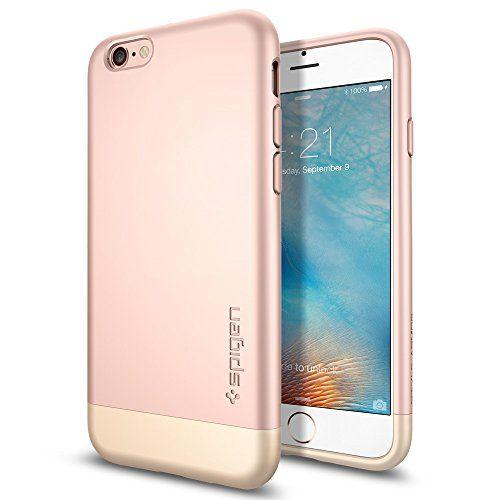 iPhone 6s Case, Spigen® [Style Armor] Safe Slide [Rose Gold] SOFT-Interior Scratch Protection Metallic Finished Dual Layer Protection Slim Hard Case for iPhone 6s (2015) - Rose Gold (SGP11724) Spigen http://www.amazon.com/dp/B012PKP2VE/ref=cm_sw_r_pi_dp_cpE9vb12HKH27