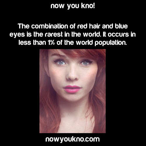 WHAT THE HECK I NEVER KNEW THIS ALL OF MY RED HAIRD BLUE EYED LIFE???