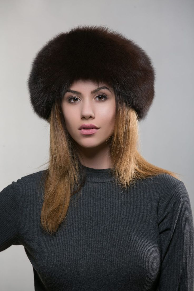 Brown Fur Hat    #brown #fox #winterhat #brown #cap #zip #haute #fashion #style #gena #saga