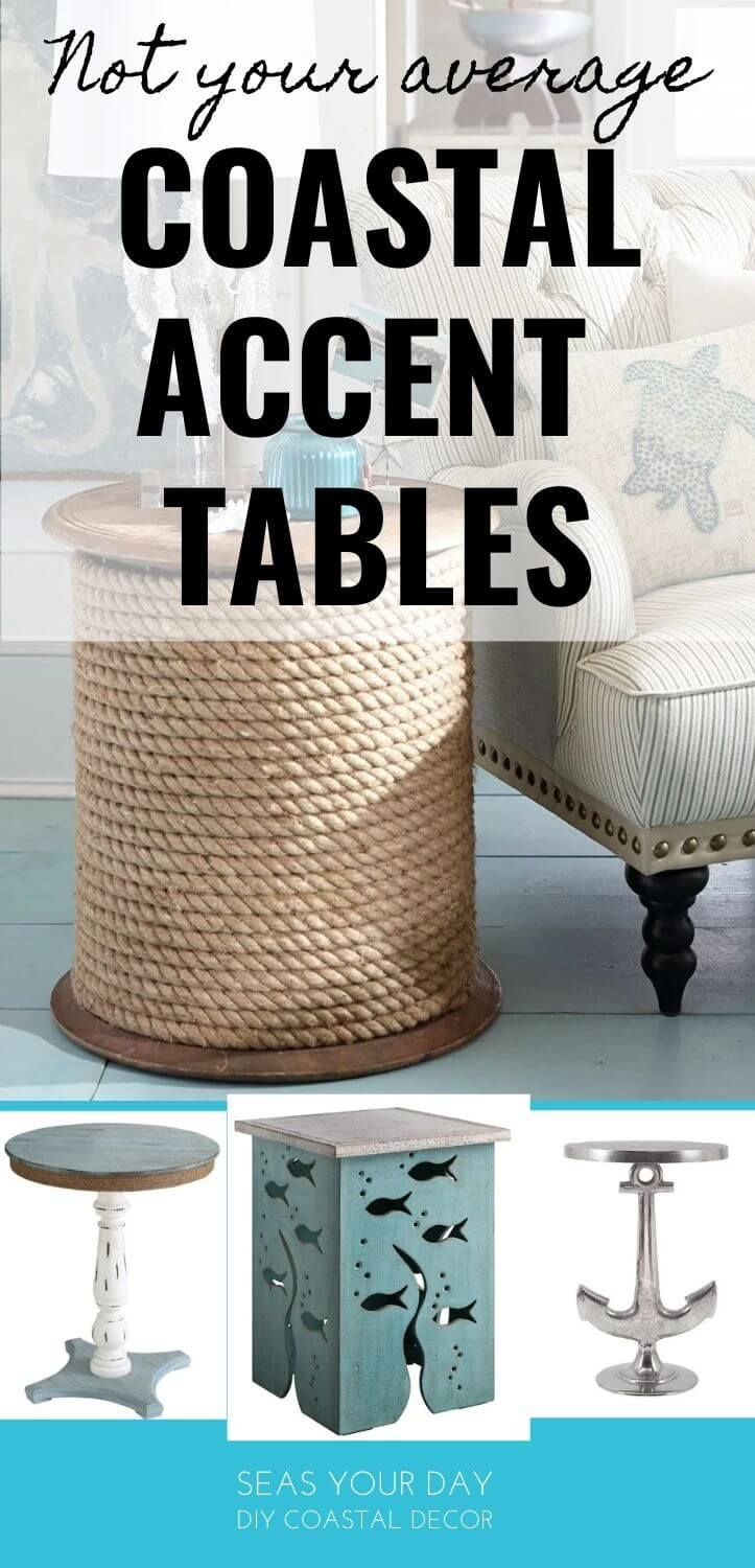 Nautical Style Accent Tables Coastal Decorating Coastal