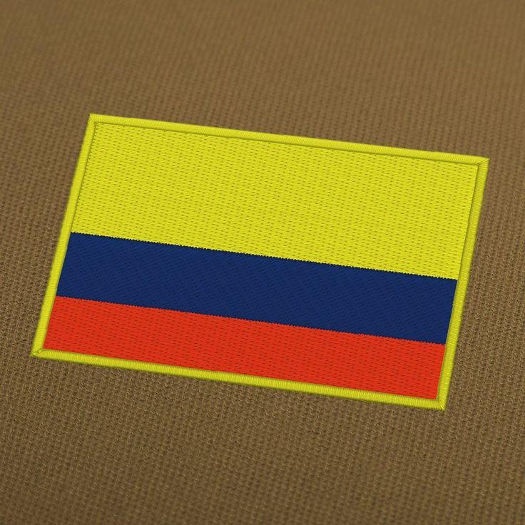 Columbia flag embroidery machine design.  #EmbroideryDownload, #EmbroideryMachine, #EmbroideryFlag, #EmbroideryFlags