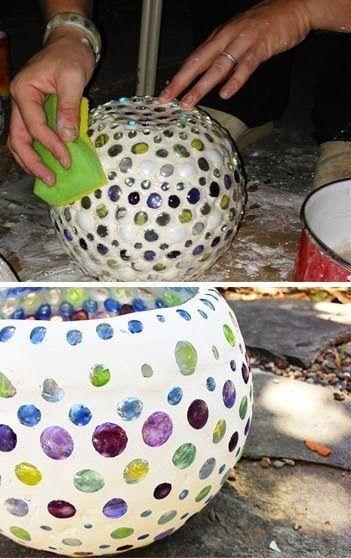 Cómo transformar un tazón de vidrio con canicas y pasta | Solountip.com