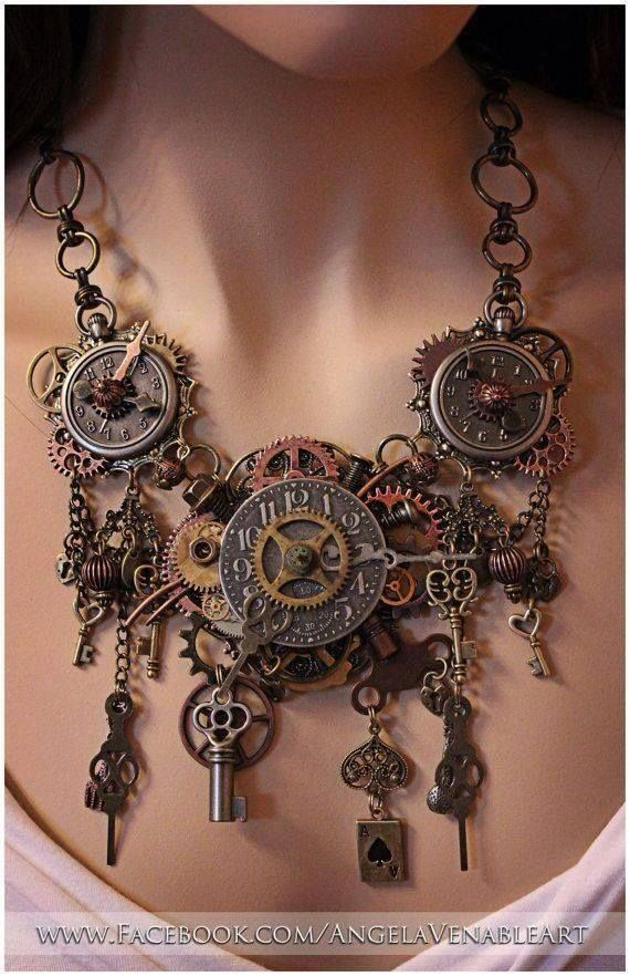 capricious steampunk bookends. Steampunk Necklace  Jewelry Clock Found Objects very detailed would wear it with a simple dress steampunk style obviously 42 best BC images on Pinterest Medieval armor Ancient art and