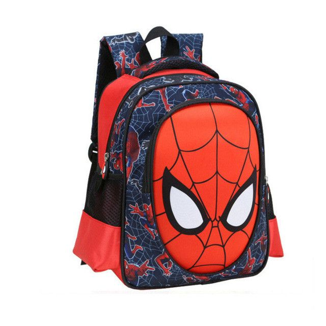 Chuwangling Mochila Spider Man Backpack For Child Age1-6 Kids School Bags For Boys Printing Spider Man Bag School Cartoon ZD8211
