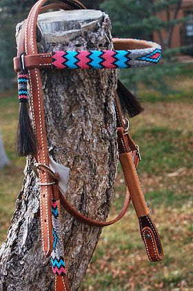 unique horse tack | Hand-Woven Saddle Blankets and Beadwork Tack by Christina Bergh