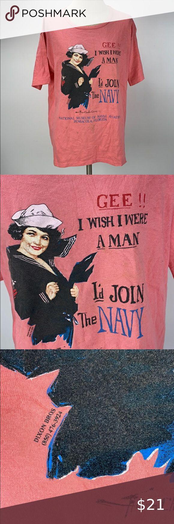 Vintage Navy TShirt Size Large in 2020 Navy tshirt