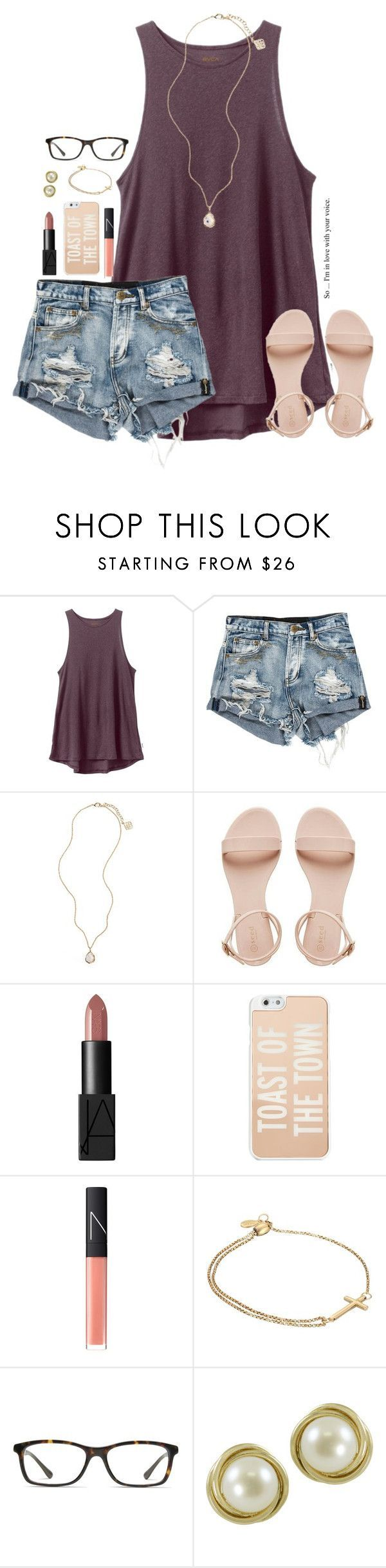 """""""everyone you meet in life, you meet for a reason"""" by kaley-ii ❤ liked on Polyvore featuring RVCA, Kendra Scott, NARS Cosmetics, Kate Spade, Alex and Ani, GlassesUSA, Imperial, women's clothing, women's fashion and women #womenclothingforsummer"""