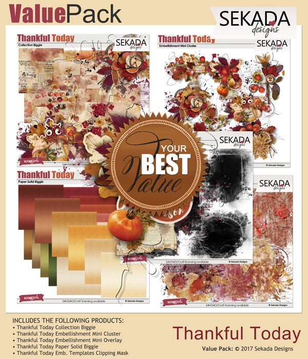 ON SALE Value Pack: Thankful Today