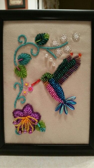 Final gift for going home. Done by dollface57 in Iroquois raised beadwork july 2015