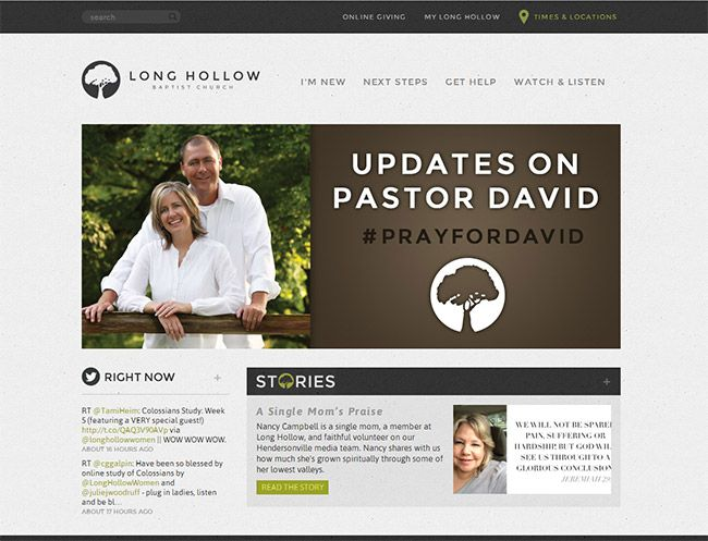 55 of the best church website designs - Church Website Design Ideas